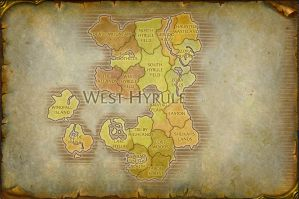 West Hyrule Map V2 by TheRabidArtist