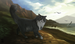 Commission: Cat by Brevis--art
