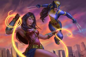 WonderWoman  and X-23 by PTimm