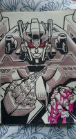 Marker Practice 11: IDW Transformers Overlord by Natephoenix