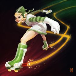 Sketch Dailies: Rollergirl by TimBeard