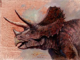 Triceratops Head by cheungchungtat