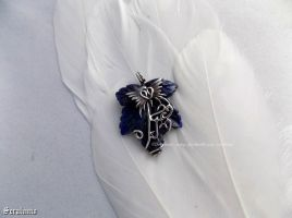 'Lapis Lazuli', handmade sterling silver pendant by seralune