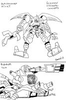 DGMN: Gizumon Ultimate Concept by BlueIke