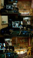My Room and workspace 2016 by skyshek
