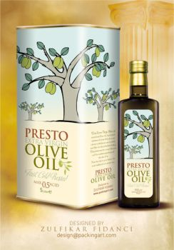 Presto Oliveoil Packaging by byZED