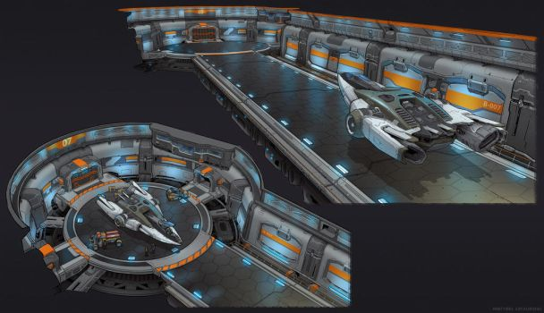 Space station dock concept by martydesign