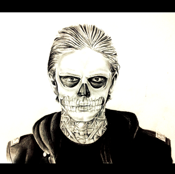 american horror story skull face by devilwithin91