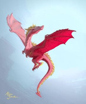 Pink Dragon by Xovq
