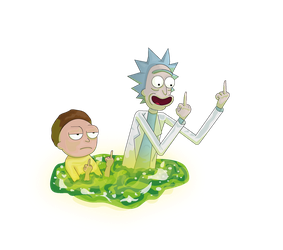 Rick and morty Png by Lalingla