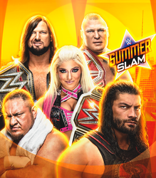 SummerSlam 2018 Custom Poster by JeanLuisEditions