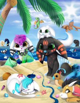 At The Beach by SkyKristal
