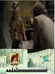 Spongebob does not want The Brain of Morbius by RedWesternRanger