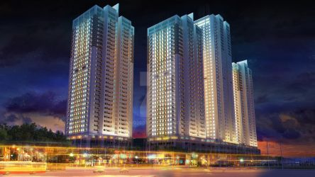 3D building night view by nnq2603