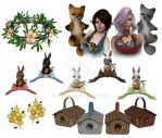 Forest Fashion Friends by bugtrot