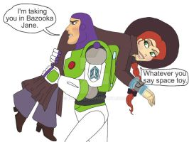 Buzz and Jessie: Busted by K-Lynn99