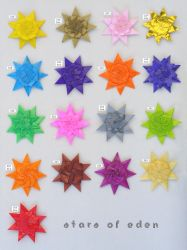 Stars of Eden, set 216-225 by Figuer