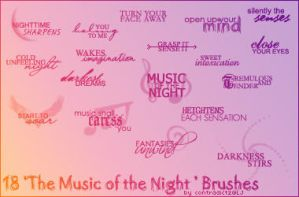 Music of the Night Brushes by contradictz