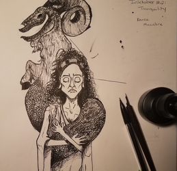 Inktober #2: Tranquility by eKnick14