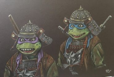 Samurai Leo and Don by BlossomBrooks