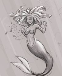 Ipod Mermaid by SavantGuarde