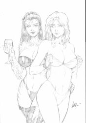 Witchblade and Dannette #1 Pencil - Commission by CaioMarcus-ART