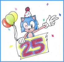 Happy 25th Anniversary Sonic! by DreamBex