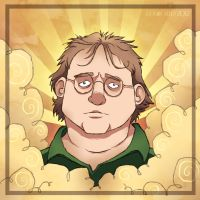Gabe Newell or GABEN by ZestyDoesThings