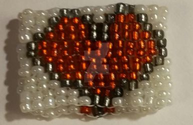 Two-Drop Peyote Stitch Seed Bead Ring by MsFABULOUS16
