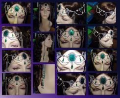 Green Circlet Wedding Comm. by dragonphysic