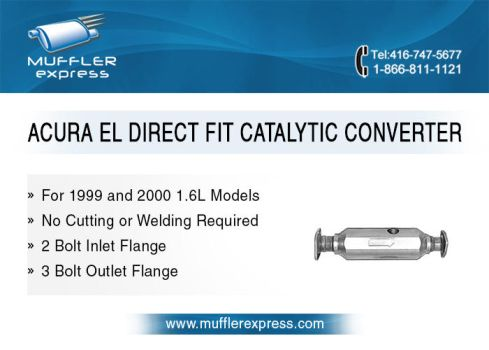 Acura EL Direct Fit Catalytic Converter by mufflerexpress
