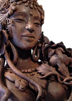 'Dancing Tara' close up by JulieSwanSculpture