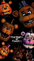 Five nights at freddys 2014 - 2018 by GareBearArt1