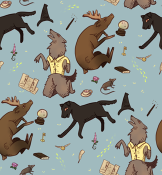 Marauders repeating background (Harry Potter) by Ackerley