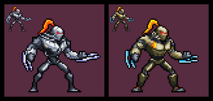 Killer Instinct 2013: Fulgore (Sprite) by DangerMD