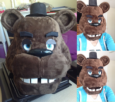 FNAF Freddy Fazbear Head by KittyUniverse