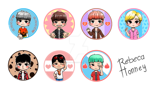 Chibi BTS FIRE All Members by Rebeca-Honney