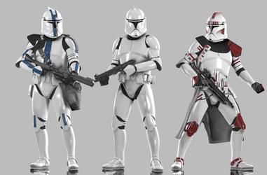 Clone Troopers (Phase I) by Yare-Yare-Dong