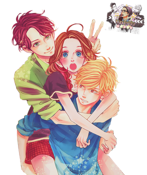 Shishio, Suzume and Daiki by MithxOfSS501