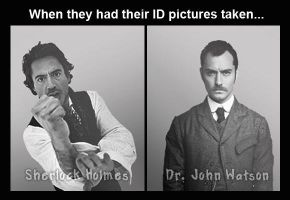 Holmes and Watson IDs by potpourriVI
