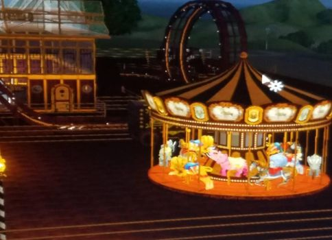 Sims 3 Steampunk Theme Park by XINights