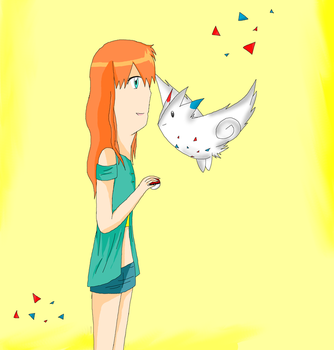 misty and togekiss by LavenderChanx