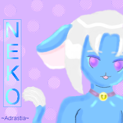 Blue Neko by Adrastia