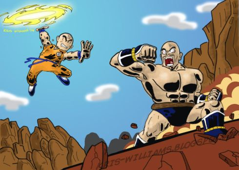 Krillin vs Nappa by SeltzerWaterfalls