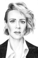 Sarah Paulson by nabey