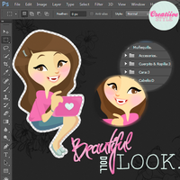 Beautiful Look Doll - PSD y PNG by CreatiiveStyle