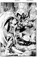 Moon Knight commission by gammaknight