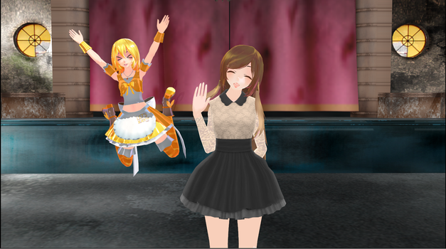 [MMD] Selfie con chica by jazmimono