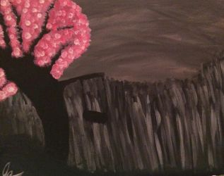 Pink tree with swing  by Joansblade