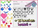 16 Brushes Kawaii by RainboWxMikA
